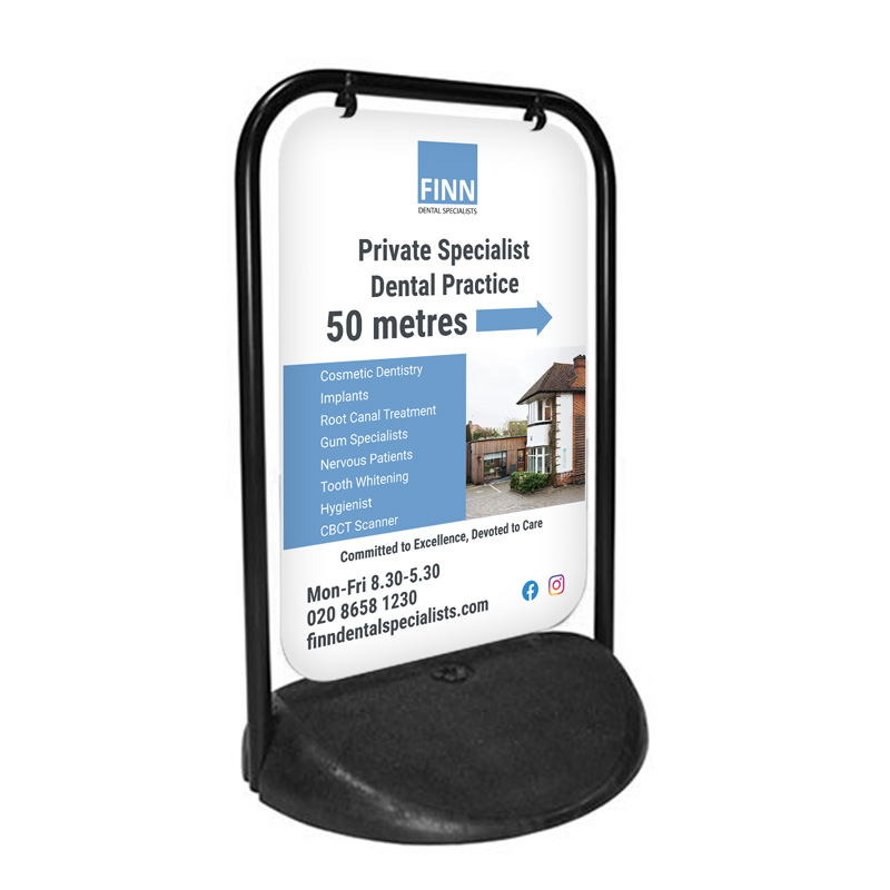 Finn Dental Specialists Swing Sign